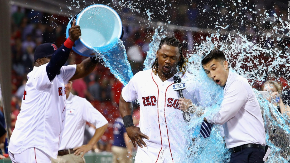 Boston first baseman Ramirez (center) will assume cleanup hitter duty now that fellow Dominican David Ortiz (left, with bucket) has retired. The 2009 NL batting champion is coming off a 30 HR, 111 RBI season and will likely switch to a full-time designated hitter spot for the Red Sox. He is halfway through a four-year $88 million deal.