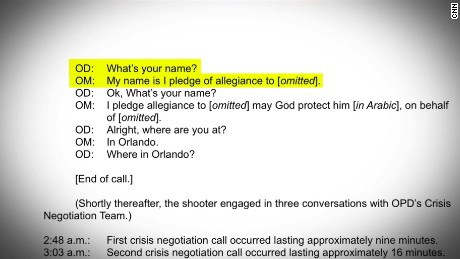 Orlando shooter transcript