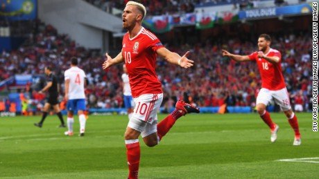 Aaron Ramsey gave Wales the perfect start with an early goal.