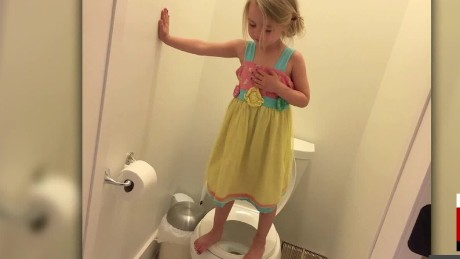 Girl on the toilet video 1