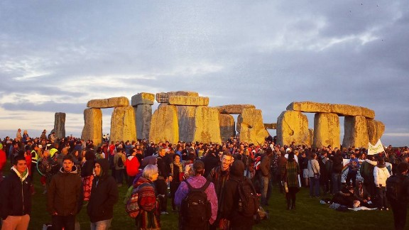 Crowds gathered to watch the moon on Monday and stayed until sunrise on Tuesday.