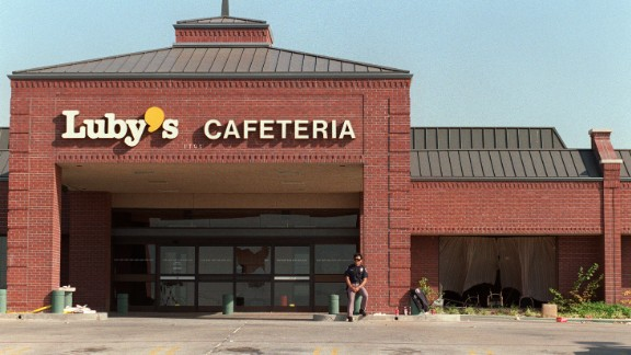 The Luby's Cafeteria location in Killeen, Texas where 23 people were killed.