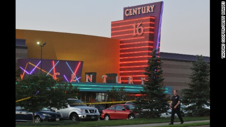 "The Century 16 movie theater is where a gunman attacked moviegoers during a screening of the Batman movie, ""The Dark Knight Rises"" in Aurora, Colorado.  Twelve people were killed and 70 injured."