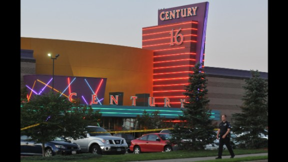 The Century 16 movie theater in Aurora, Colorado where twelve people were killed and 70 injured in a 2012 mass shooting.