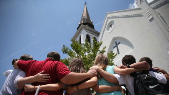 Nine parishioners, all African-American, were shot by a young, white man at Emanuel AME Church.