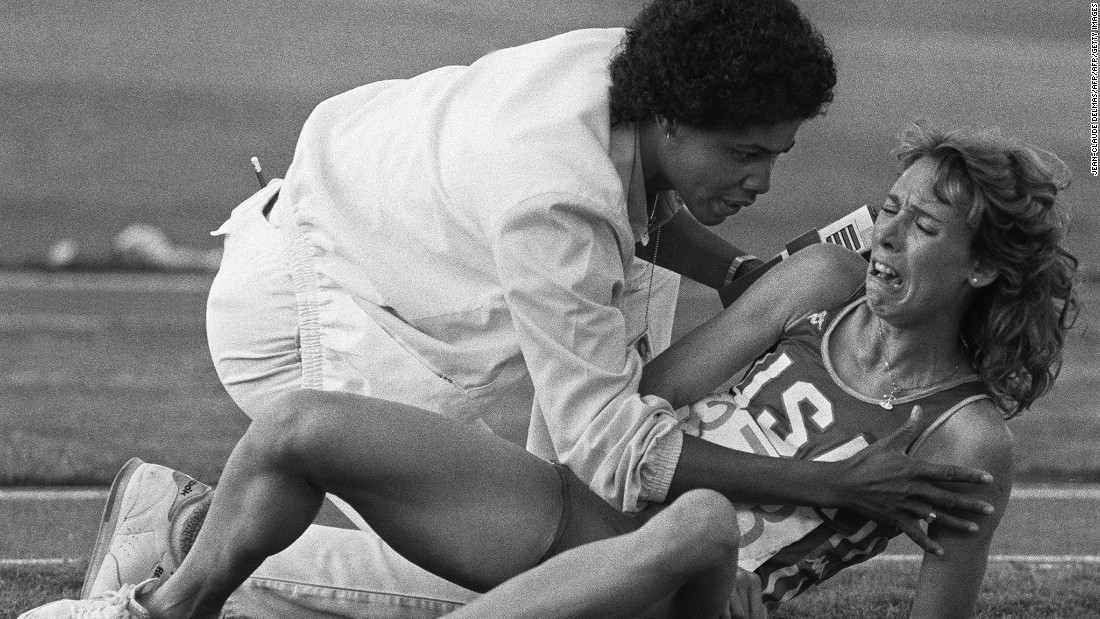 Perhaps the most famous tears in sports were shed when Mary Decker of the U.S.  cried in frustration after a collision forced her out of the women's 3000m final at the Olympic games on August 11, 1984 in Los Angeles.