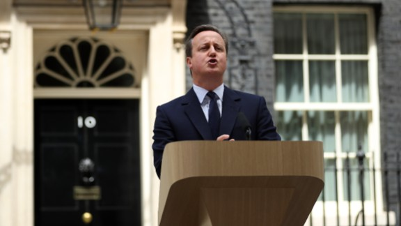 British Prime Minister David Cameron delivers a statement outlining his case for remaining in the EU.