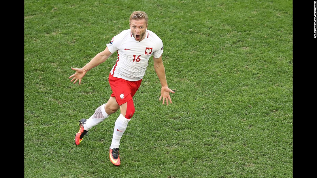 Jakub Blaszczykowski scored the goal in Poland's 1-0 victory over Ukraine in Marseille, France. Poland finished second in Group C and will play Switzerland in the round of 16. Ukraine was eliminated from the tournament after losing all three of its matches.