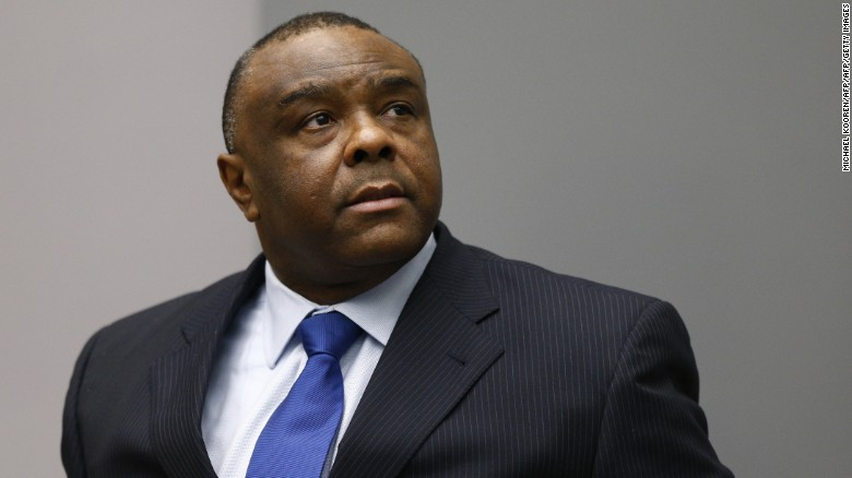 Former Congolese vice-president Jean-Pierre Bemba sits in the courtroom of the International Criminal Court (ICC) in The Hague on June 21, 2016.  The ICC sentenced Jean-Pierre Bemba to 18 years in jail.  / AFP / POOL / Michael Kooren        (Photo credit should read MICHAEL KOOREN/AFP/Getty Images)