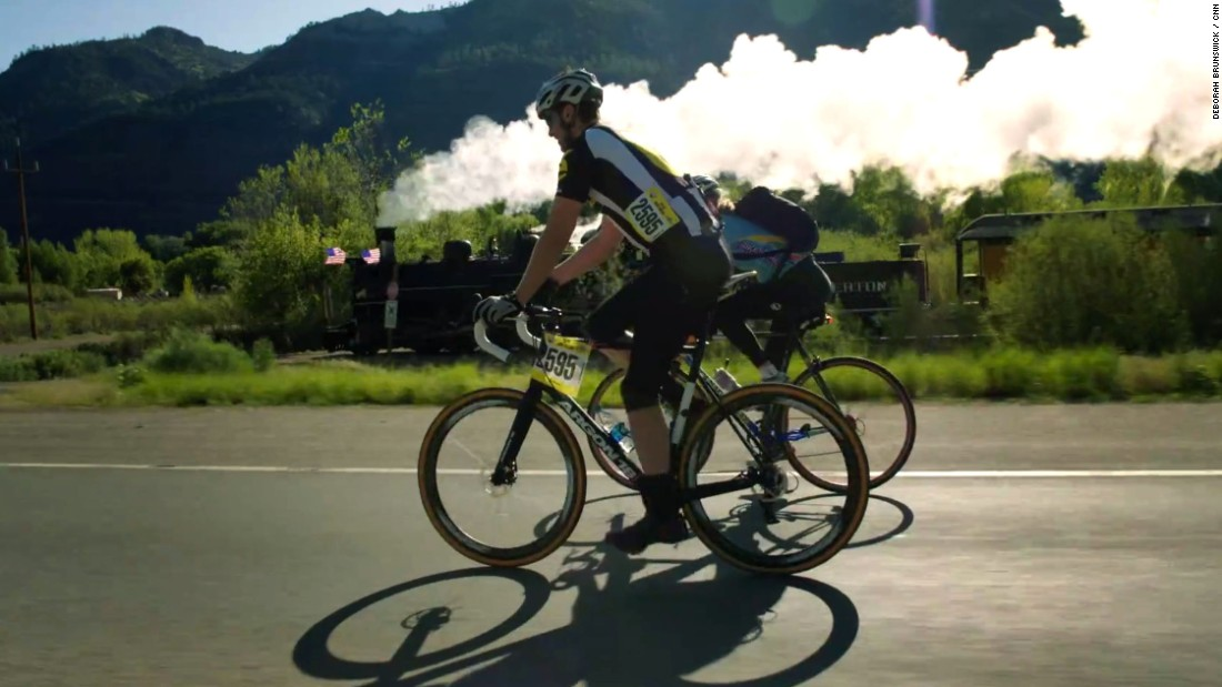 While most riders leave at the same time as the train, about 30 minutes into the race, their paths diverge. Riders go over the mountains and the  train stays down in the Animas River gorge, meeting again in Silverton.