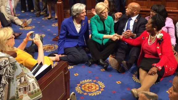 U.S. Rep. John Lewis, no stranger to protest from his days of civil-rights activism, joined other Democrats in staging a sit-in at the House of Representatives on Wednesday, June 22. They were trying to force votes on gun control after the largest mass shooting in U.S. history.