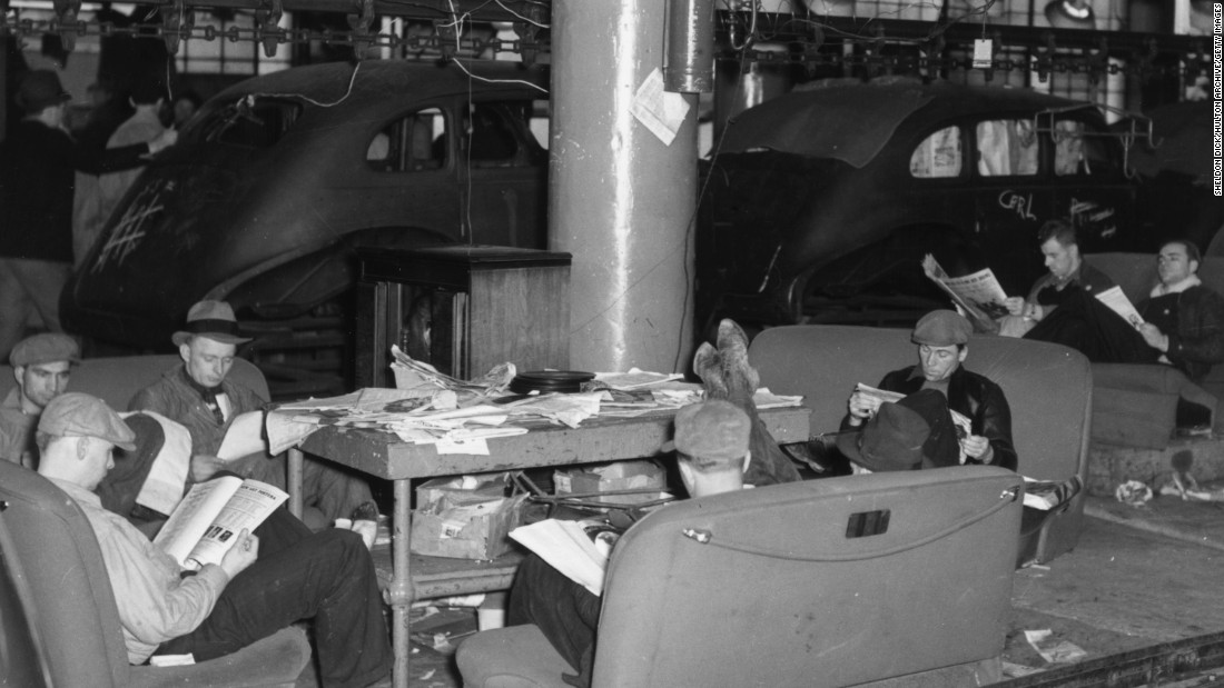 "Many of the earliest sit-ins were labor strikes. In December 1936, workers at a General Motors plant in Flint, Michigan, staged a ""sit-down"" strike seeking union representation."