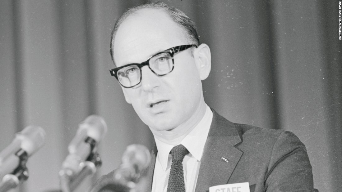 "In 1965, University of Michigan professors such as Eric Wolf, pictured, staged a ""teach-in"" to protest the Vietnam War."
