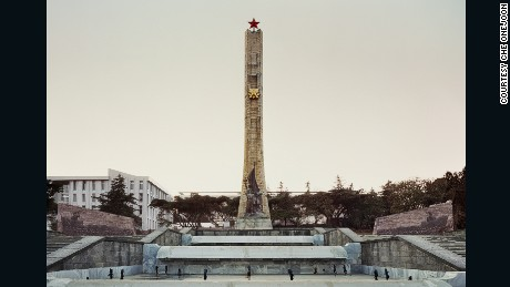 The Tigrachin monument, built in 1984, in Addis Ababa, Ethiopia (photograph: Che Onejoon).