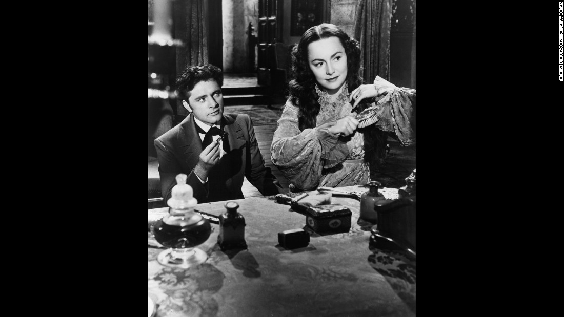 "Richard Burton made his American screen debut with de Havilland in the film version of the Daphne du Maurier mystery ""My Cousin Rachel"" (1952). The actress was effective in an atypical and ambiguous role: Was she a sympathetic heroine or an unscrupulous killer?"
