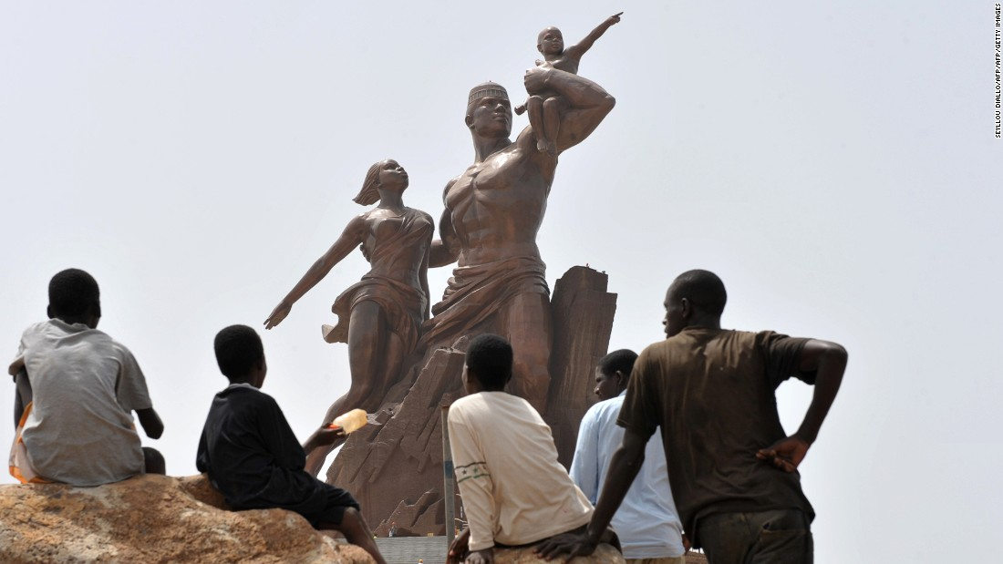 The African Renaissance Monument in Dakar, Senegal, stands 164 feet high -- 13 feet taller than the Statue of Liberty. Inaugurated in 2010, it depicts a man, woman and child in the socialist realism style.