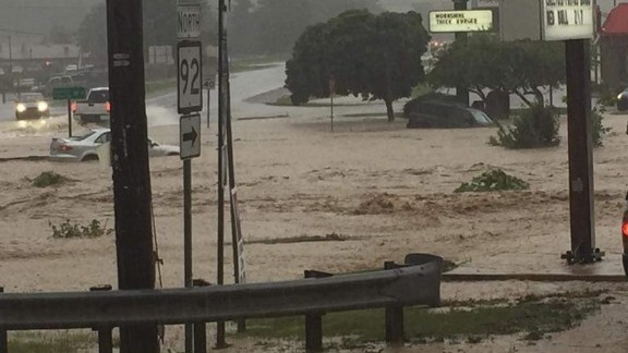 Cars submerged in White Sulphur Springs, West Virginia