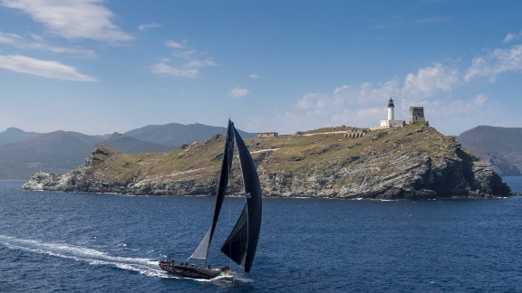 Jethou crossed the line second in Genoa in the Giraglia Rolex Cup race.