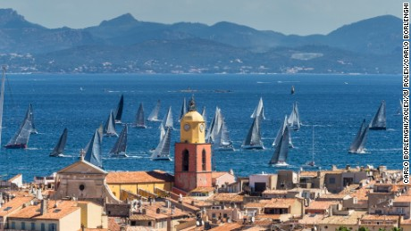 The French Rivieira resort of St. Tropez hosts the Giraglia Rolex Cup.