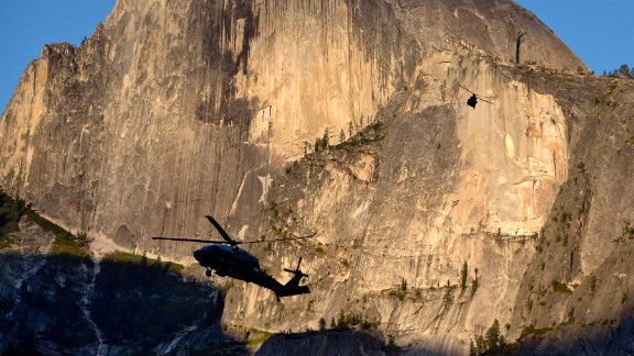 """Marine One is silhouetted against the Half Dome rock formation as the first family arrives at Yosemite National Park on Friday, June 17. <a href=""""http://www.cnn.com/2016/05/27/politics/gallery/us-military-may-photos/index.html"""" target=""""_blank"""">See U.S. military photos from May</a>"""