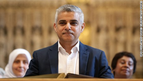 LONDON, ENGLAND - MAY 07:  Sadiq Khan attends an official signing ceremony at Southwark Cathedral as he begins his first day as newly elected Mayor of London on May 7, 2016 in London, England.  Khan, the Labour MP for Tooting, will be sworn in as Mayor of London at a multi-faith service at Southwark Cathedral today. After months of campaigning Mr Khan won the London mayoral race with 56.8 percent of the vote beating Conservative Party candidate Zac Goldsmith into second place.  (Photo by Yui Mok - WPA Pool /Getty Images)