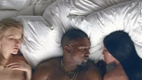 Kanye West premieres 'Famous' music video with naked celebrity look-alikes