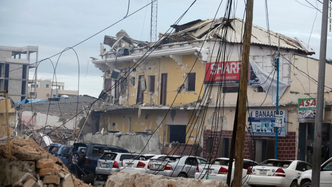Gunmen stormed the Naso Hablod hotel in the Somali capital of Mogadishu Saturday, June 25, after detonating a car filled with explosives at the hotel gate, police Capt. Aden Dahir told CNN. At least 15 people are dead and 25 others are injured.