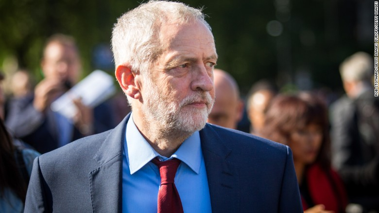 Labour leader Jeremy Corbyn walks to Parliament in the wake of Britain's Brexit vote Friday.