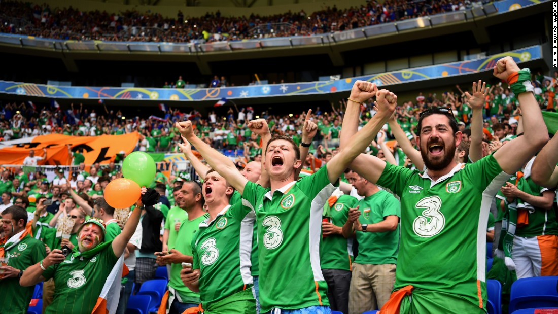 Ireland fans show their support.