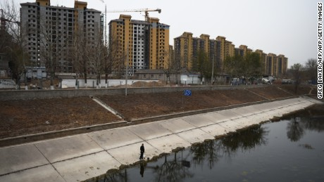 Study shows Beijing is sinking at an alarming rate due to demand on the city's water table.