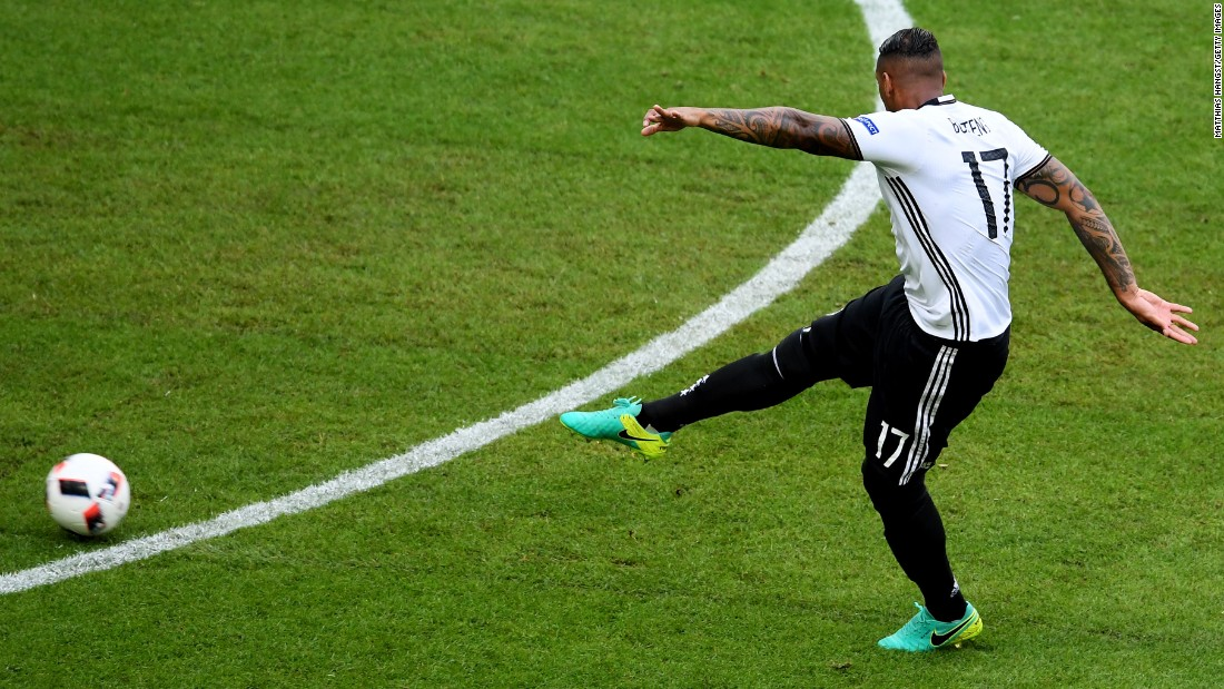Jerome Boateng of Germany scores the opening goal.