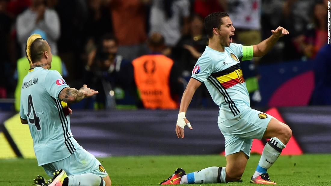 d37fcdf3047 Eden Hazard fires Belgium into Euro 2016 quarterfinals - CNN