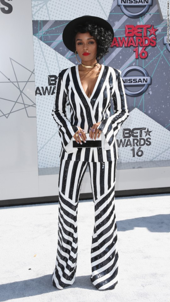 Singer Janelle Monae attends the 2016 BET Awards at the Microsoft Theater on Sunday, June 26 in Los Angeles.