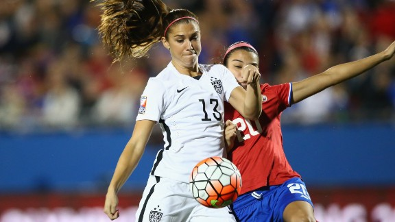 Soccer star Alex Morgan says the skills girls learn in sports can help them throughout their lives.