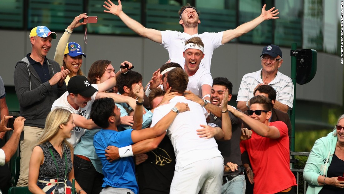 British qualifier Marcus Willis, ranked 772 in the world, caused a remarkable upset on the opening day of Wimbledon 2016.
