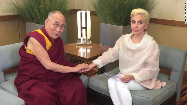 Lady Gaga's meeting Dalai Lama angers China