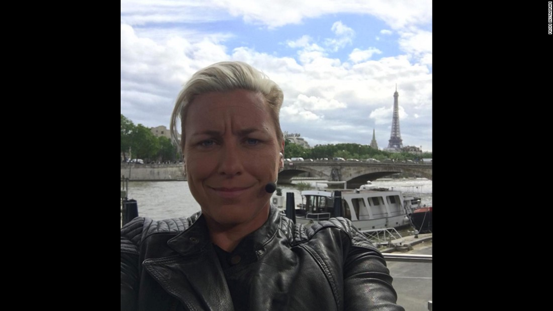 "Former U.S. soccer star Abby Wambach takes a selfie in Paris as she works for ESPN during Euro 2016. ""Not a bad view from the work desk,"" <a href=""https://www.instagram.com/p/BGo6a6NH9Ii/"" target=""_blank"">Wambach said on Instagram</a> on Tuesday, June 14. ""Still learning this whole new gig. Not easy people. I'm so lucky to learn from the best people around!!"""