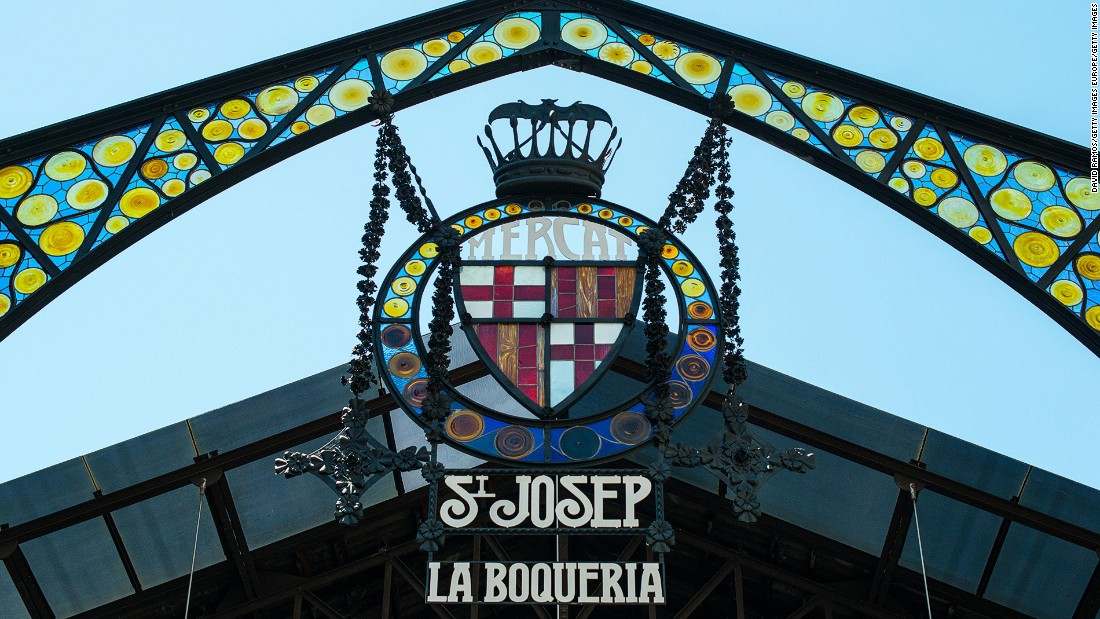 <strong>La Boqueria, Barcelona:</strong> This former pig market is now one of Barcelona's most popular tourist spots.