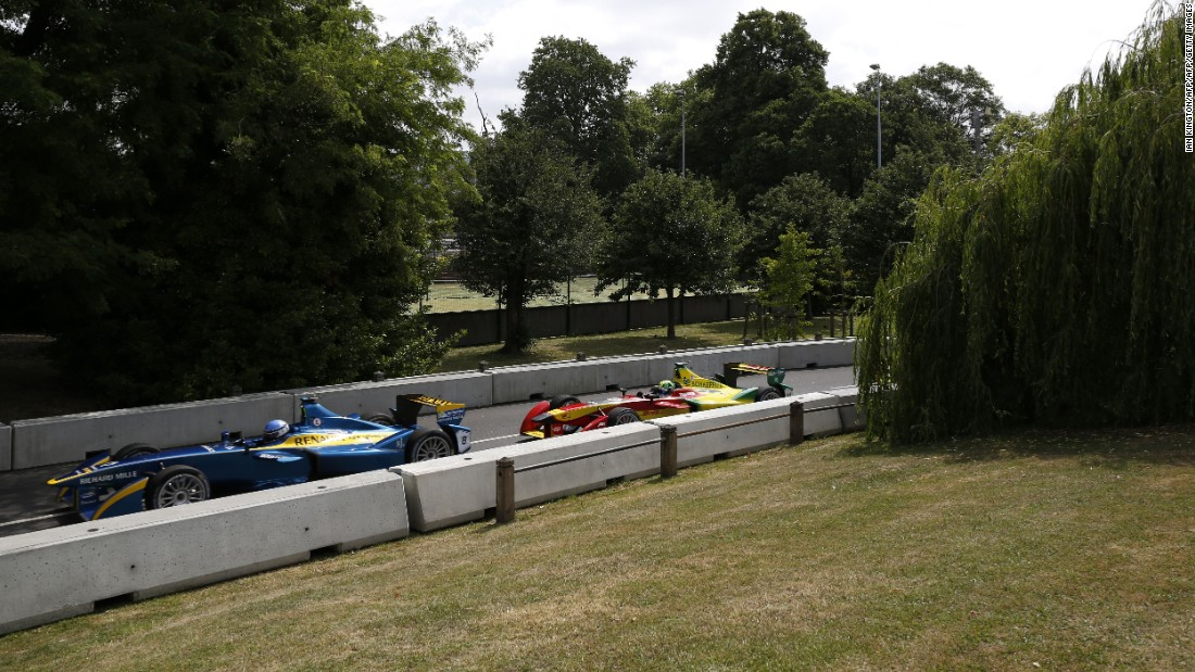 Part of the circuit at Battersea Park, the host of the final Formula E weekend of the season.