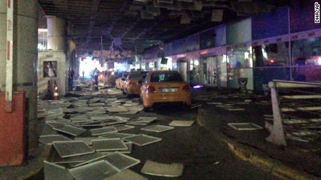 Aftermath of the attack at the Ataturk Airport in Istanbul.