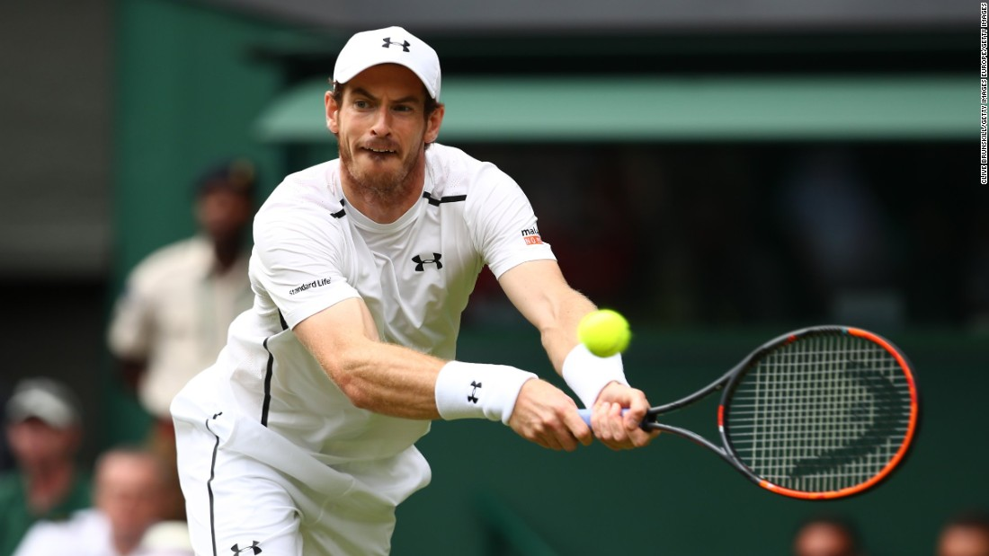 In men's action, home hope Andy Murray began his bid for a second title on the hallowed grass courts with a straight-sets victory.