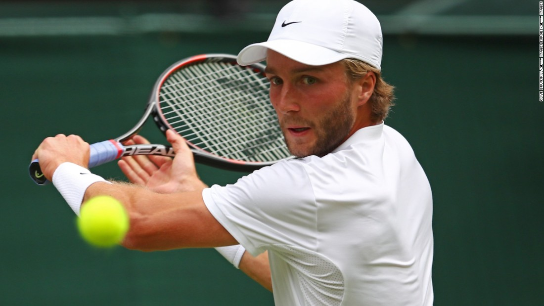 The second seed beat Liam Broady (pictured) as the 2013 champion faced his first all-British clash in his 11th appearance at SW19. Murray will next face Yen-Hsun Lu of Chinese Taipei.