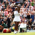 Serena Williams celebrates Wimmbledon