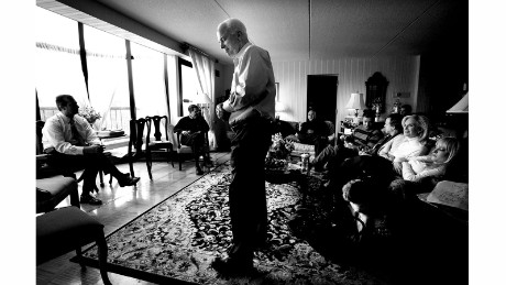Sen. John McCain meets with his advisers in a New Hampshire hotel room during the 2008 presidential campaign.
