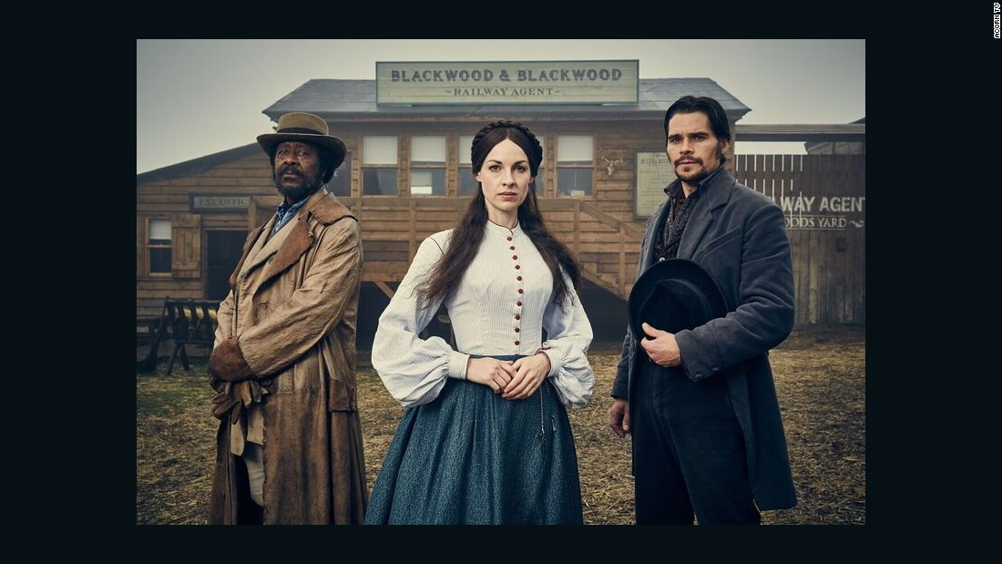 "<strong>""Jericho"":</strong> Jessica Raine stars in this historical piece as Annie Quaintain, a recently widowed mother forced to sell her house and possessions to pay off her late husband's debts. <strong>(Acorn TV) </strong>"