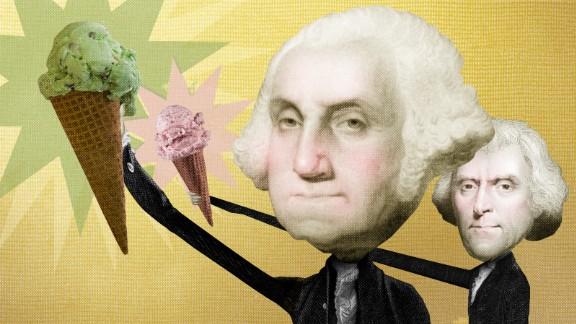 Washington and Jefferson helped bring ice cream to America.