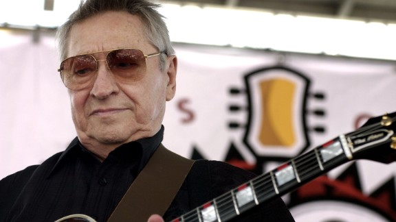 Scotty Moore, a legendary guitarist credited with helping to launch Elvis Presley