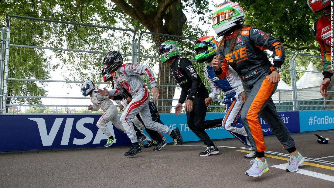 At last year's Battersea ePrix, Usain Bolt challenged Formula E drivers to a 100-metre sprint race.
