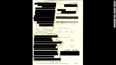 The U.S. Coast Guard released a redacted copy of a letter purportedly written by Cuban migrants.