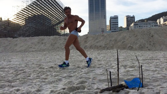 Photo of body parts discovered on a beach in Rio de Janeiro, Brazil.